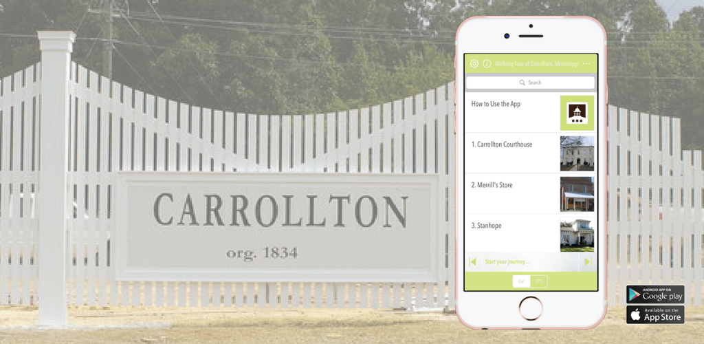 Carrollton, Mississippi Walking Tour App