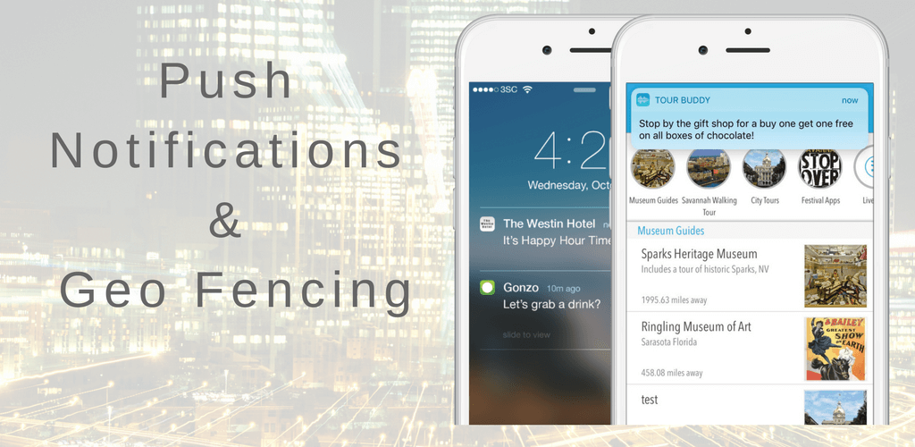 Push notifications for mobile app tour